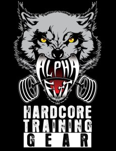 New Alpha FitT Hardcore Training GEAR logo (Black)